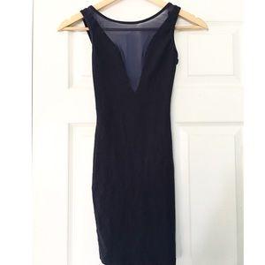 American Apparel Navy Blue Mesh Bodycon Dress